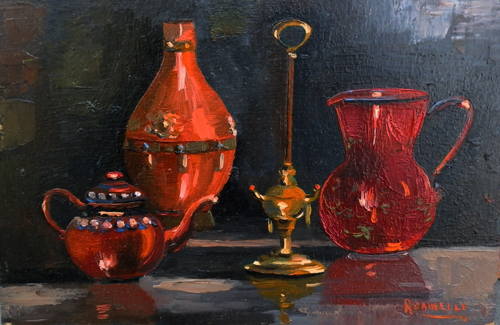 Art work by R. Dainelli Composizione - oil table